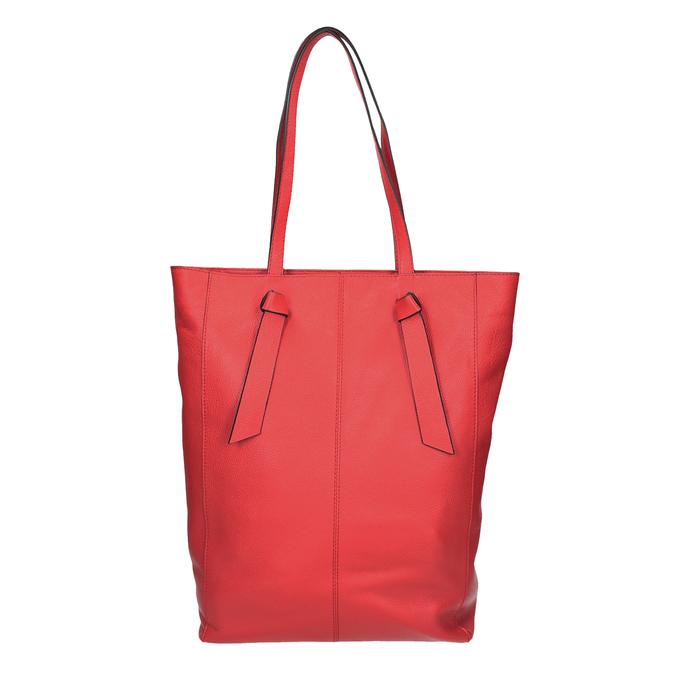 Červená kožená kabelka v štýle shopping bag bata, červená, 964-5297 - 16