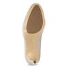 Kožené lakované lodičky hogl, béžová, 728-8069 - 18