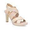 Béžové kožené sandále na stabilnom podpätku insolia, béžová, 766-8606 - 13