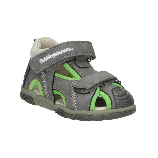 4c5540275764 Bubblegummers Šedo-zelené detské sandále - Na ihrisko aj do prírody ...