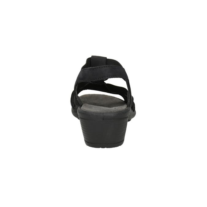 Čierne dámske kožené sandále comfit, čierna, 666-6619 - 15