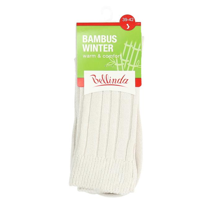 Vysoké ponožky s bambusom bellinda, béžová, 919-8717 - 13