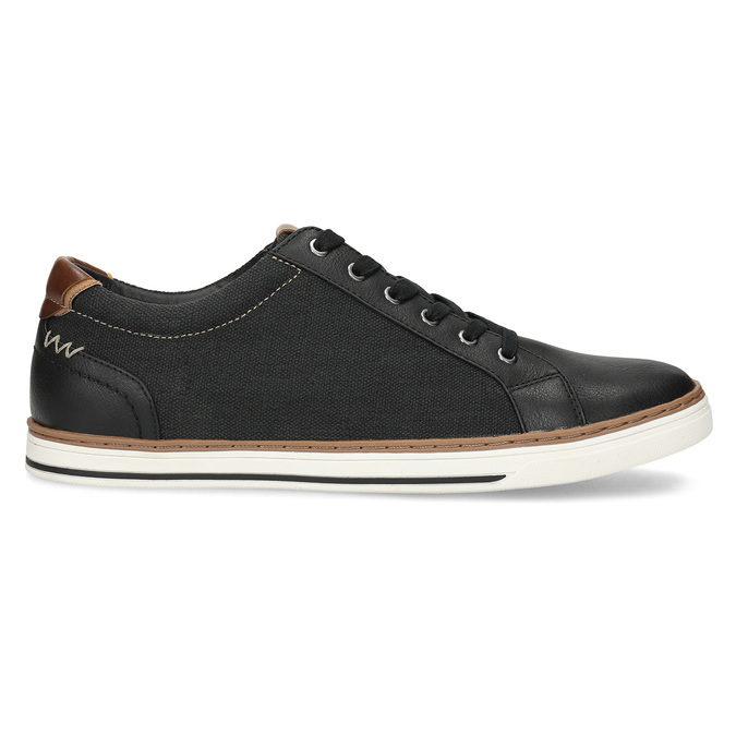 Pánske ležérne tenisky bata-red-label, čierna, 841-6616 - 19