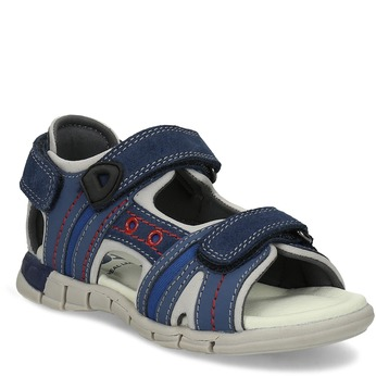 Chlapčenské sandále na suchý zips modré mini-b, modrá, 263-9605 - 13