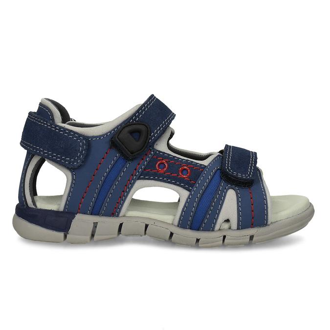 Chlapčenské sandále na suchý zips modré mini-b, modrá, 263-9605 - 19