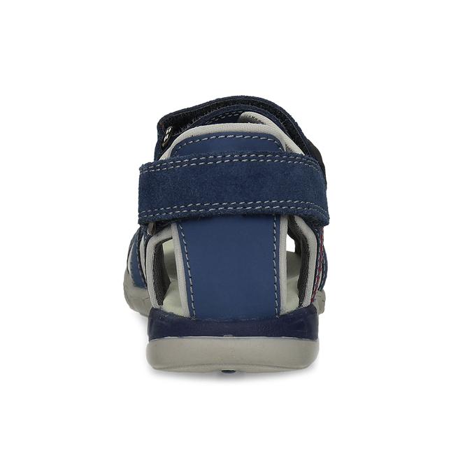 Chlapčenské sandále na suchý zips modré mini-b, modrá, 263-9605 - 15
