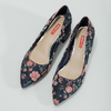Kvetinové lodičky na nízkom podpätku bata-red-label, modrá, 629-5640 - 16