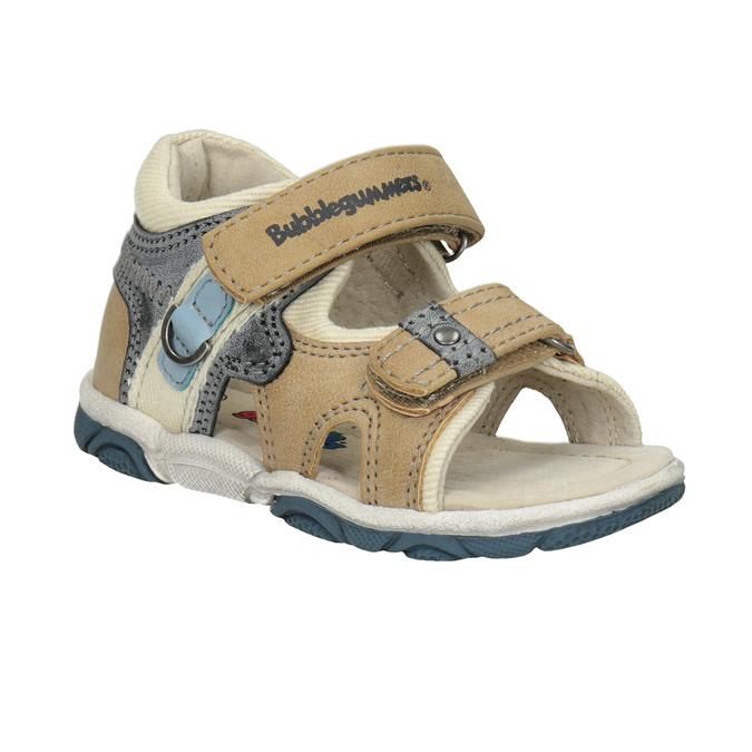 Detské sandále na suchý zips bubblegummers, hnedá, 161-3606 - 13