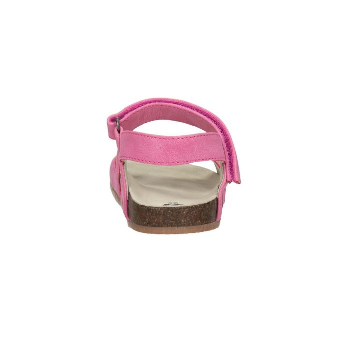 Ružové dievčenské sandále mini-b, ružová, 261-5610 - 15