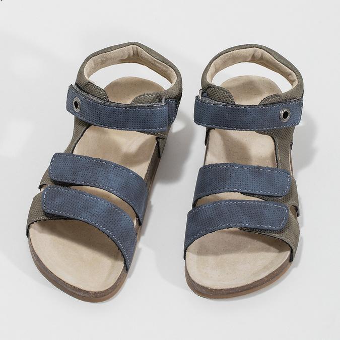 Detské sandále na suchý zips mini-b, modrá, 261-9609 - 16