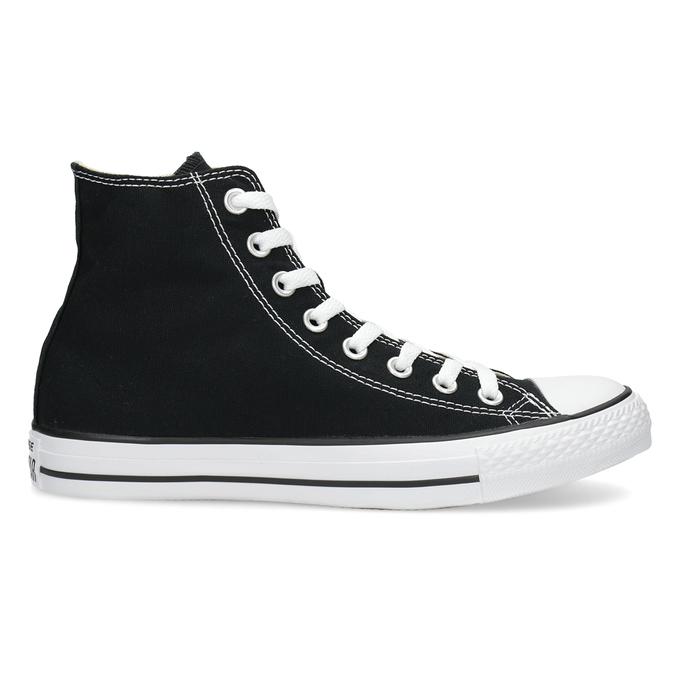 Dámske členkové tenisky s gumovou špičkou converse, čierna, 589-6278 - 19