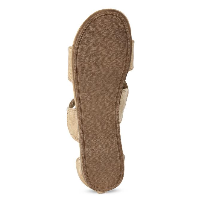Dievčenské sandále s perličkami bullboxer, béžová, 361-8609 - 18