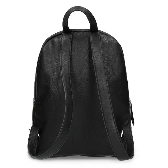 Čierny dámsky batoh s kamienkami bata, čierna, 961-6855 - 16