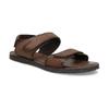 Pánske kožené hnedé Ombré sandále bata, hnedá, 866-4633 - 13