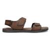 Pánske kožené hnedé Ombré sandále bata, hnedá, 866-4633 - 19
