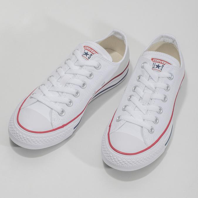 Dámske biele tenisky s gumovou špičkou converse, biela, 589-1279 - 16