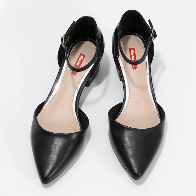 Lodičky na nízkom podpätku čierne bata-red-label, čierna, 621-6607 - 16