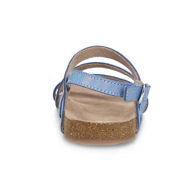 Dievčenské sandále s holografickými remienkami mini-b, modrá, 466-1609 - 15