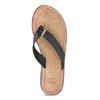 Čierne kožené dámske žabky bata, čierna, 566-6645 - 17