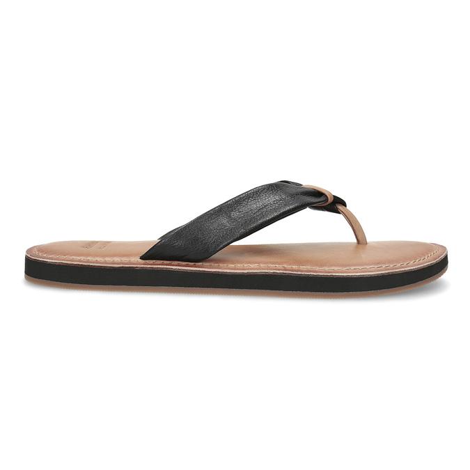 Čierne kožené dámske žabky bata, čierna, 566-6645 - 19