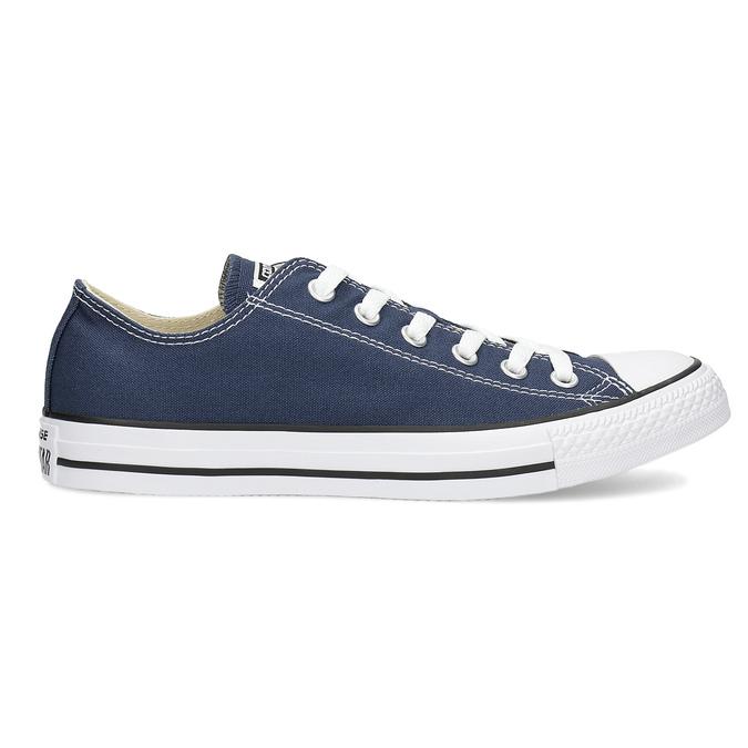 Dámske textilné tenisky s gumovou špičkou converse, modrá, 589-9279 - 19