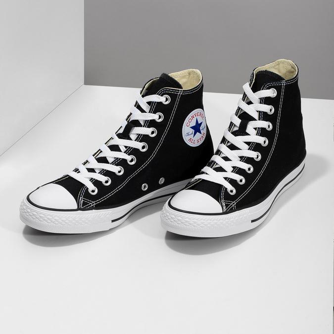 Dámske členkové tenisky s gumovou špičkou converse, čierna, 589-6278 - 16