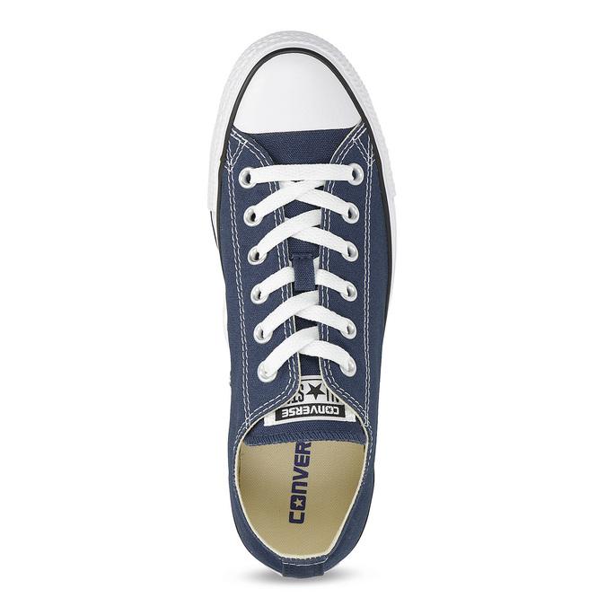 Dámske textilné tenisky s gumovou špičkou converse, modrá, 589-9279 - 17
