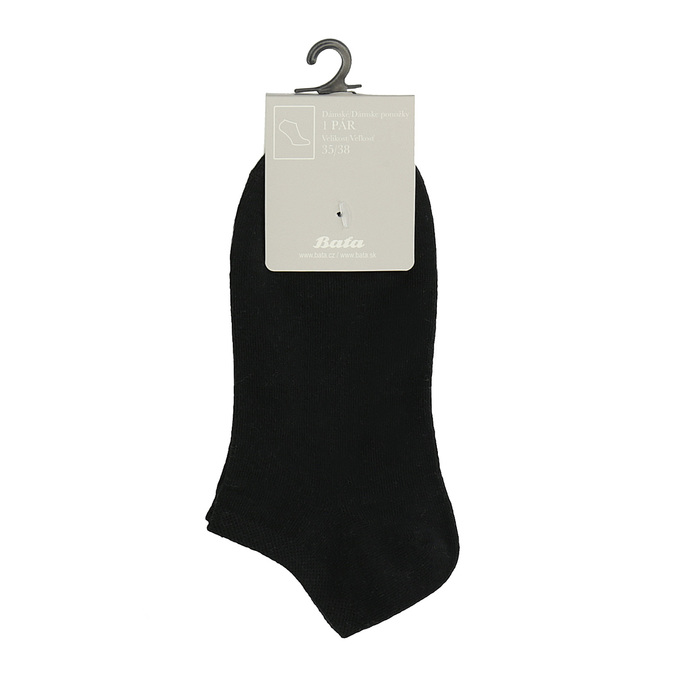 Dámske členkové čierne ponožky bata, čierna, 919-6813 - 13