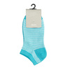 Dámske pruhované členkové modré ponožky bata, 919-9816 - 13