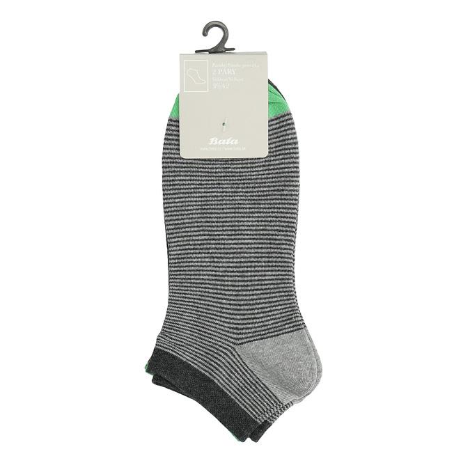 Pruhované členkové ponožky pánske bata, šedá, 919-2804 - 13