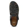 Pánske čierne kožené sandále s plnou špičkou bata, čierna, 866-6616 - 17