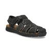 Pánske čierne kožené sandále s plnou špičkou bata, čierna, 866-6616 - 13