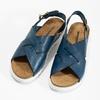 Dámske kožené sandále weinbrenner, modrá, 566-9628 - 16