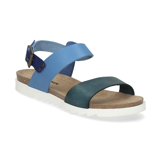 5391f8690f Weinbrenner Modré kožené dámske sandále - Všetky topánky