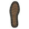 Kožené pánske ležérne poltopánky s prešitím bata, hnedá, 826-4917 - 18