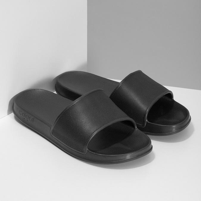 Pánske čierne šľapky coqui, čierna, 872-2658 - 26