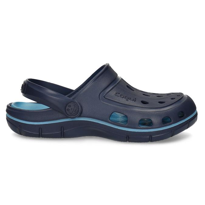 Modré detské sandále typu Clogs coqui, modrá, 372-9656 - 19