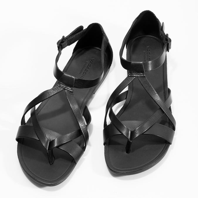 Čierne dámske sandále vagabond, čierna, 564-6017 - 16