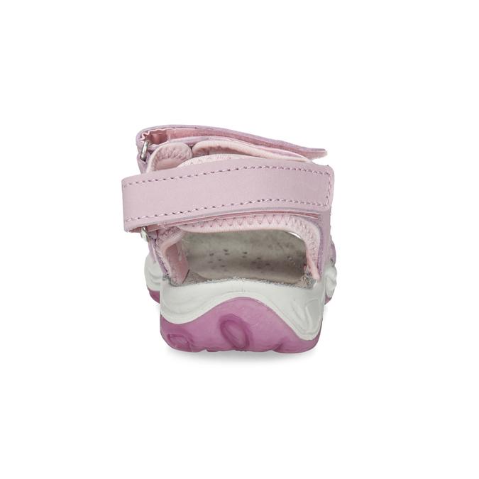 Dievčenské kožené sandále v Outdoor štýle weinbrenner, ružová, 366-5606 - 15