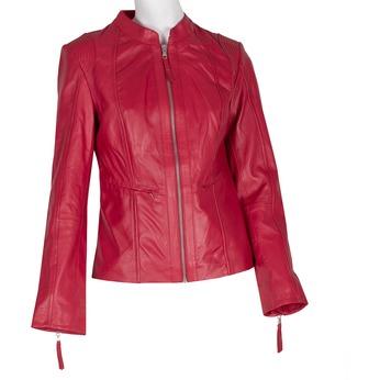 Červená kožená bunda bata, červená, 974-5180 - 13
