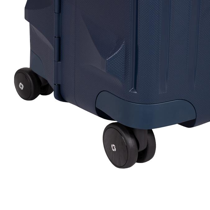 Modrý kufor na kolieskach s pevným obalom samsonite, modrá, 960-9612 - 16