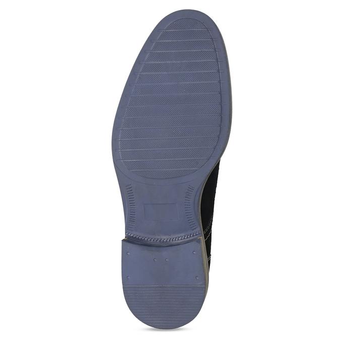Modré kožené poltopánky s prešitím bata, modrá, 823-9613 - 18