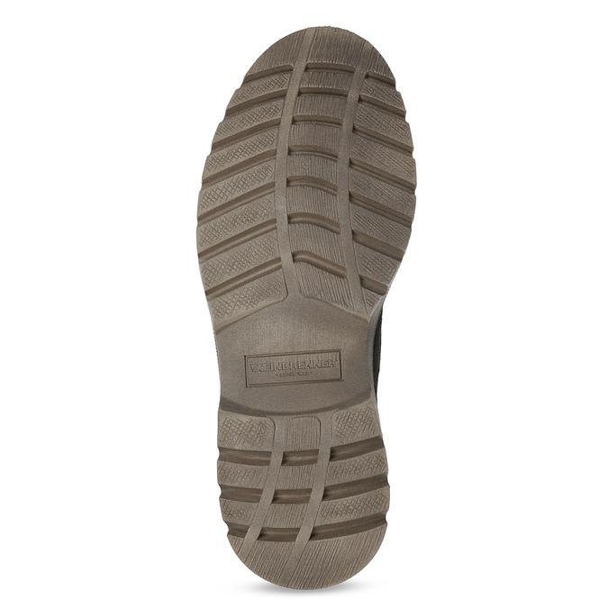 Pánska zimná kožená obuv weinbrenner, čierna, 896-6107 - 18