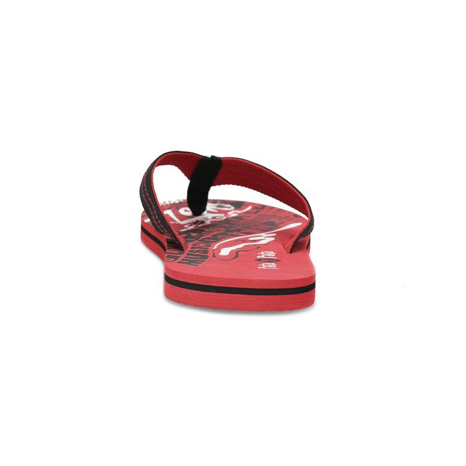 Pánske čierno-červené žabky pata-pata, červená, 879-9617 - 15