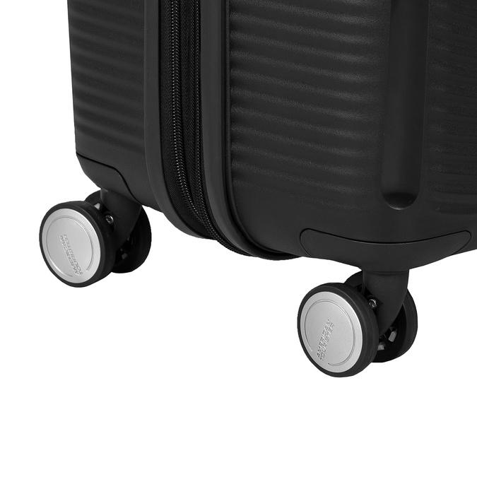 Čierny pevný kufor na kolečkách american-tourister, čierna, 960-6614 - 16