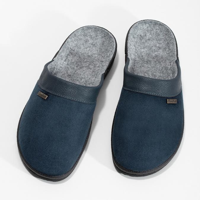 Pánska domáca obuv bata, modrá, 879-9600 - 16