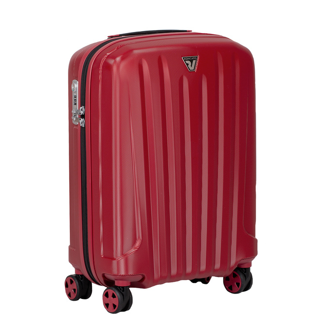 Malý červený škrupinkový kufor na kolieskach roncato, červená, 960-5738 - 13