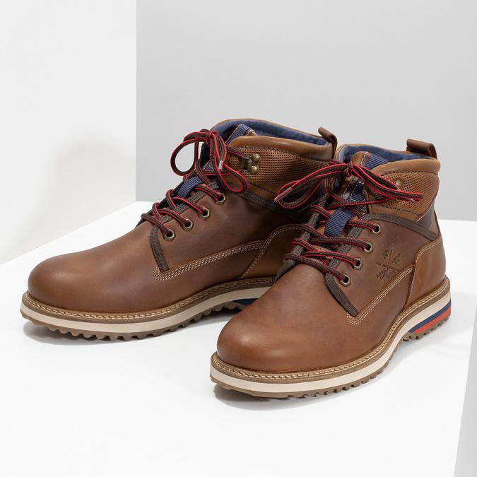 Členková pánska zimná obuv bata, hnedá, 896-3677 - 16