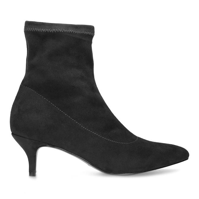Šedé ponožkové čižmičky na Kitten podpätku bata, šedá, 699-2643 - 19