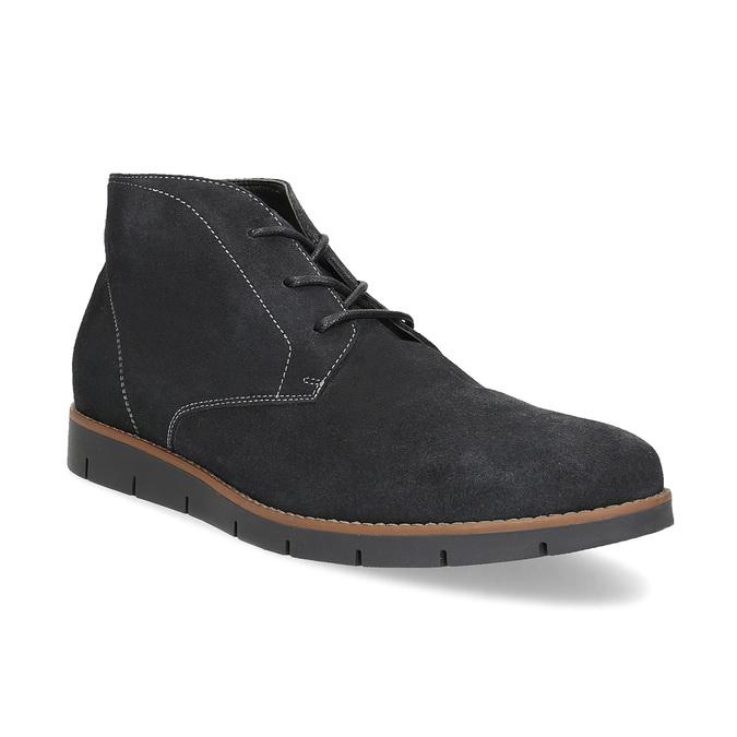 Pánska členková modrá kožená obuv flexible, modrá, 823-2632 - 13
